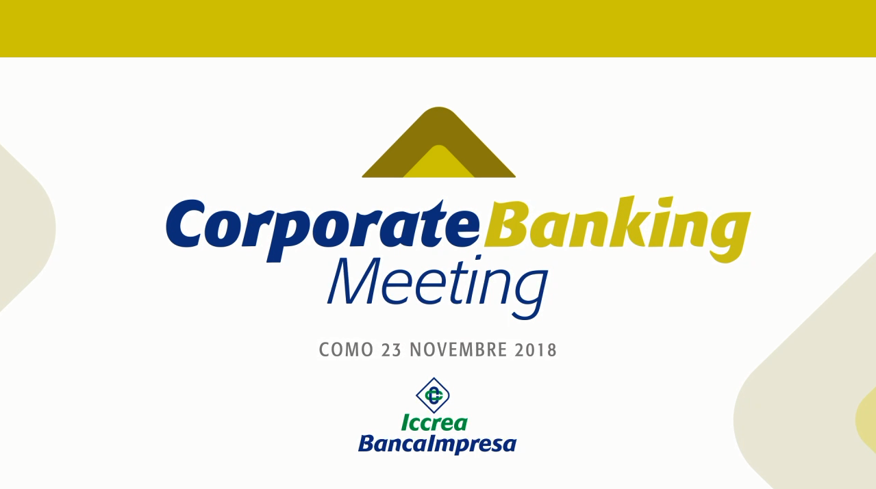 Intervento al Corporate Banking Meeting